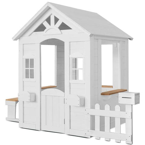 Lifespan Kids Play Houses Teddy Cubby House in White V2 - Lifespan Kids LKCH-TEDV2WH Buy online: White Teddy Cubby House V2  -Lifespan Kids Happy Active Kids Australia