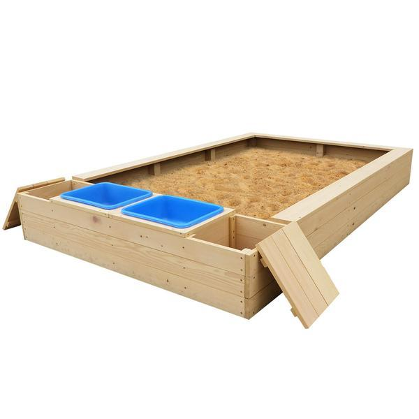 Lifespan Kids Sandpits Mighty Rectangular Sandpit with Wooden Cover - Lifespan Kids - Preorder stock 2020 sold out - ETA 2021 09347166044273 SANDPITMIGHTY-COVERSET Buy online: Mighty Rectangular Sandpit with Wooden Cover  Happy Active Kids Australia