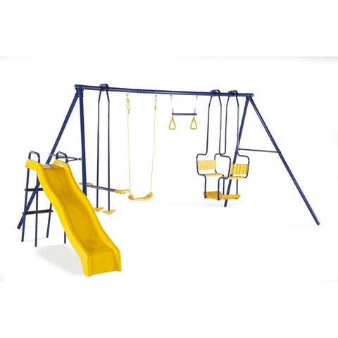 Plum Play Centres Plum® 5 Unit Metal Swing Set & Slide Play Centre - OUT OF STOCK eta TBA 5036523055208 22114AA82 Buy online: Plum® 5 Unit Metal Swing Set & Slide Play Centre  Happy Active Kids Australia
