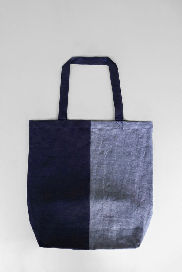 TWO-TONE LINEN TOTE BAG