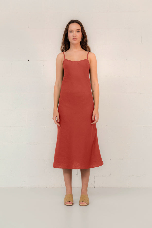 LINEN SLIP DRESS - SAMPLE