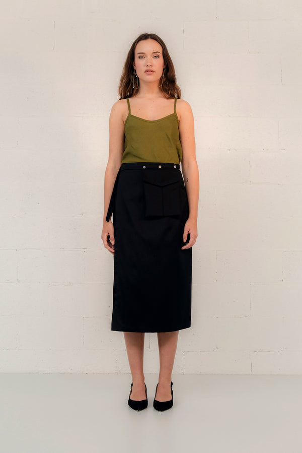 SILK/COTTON WRAP SKIRT
