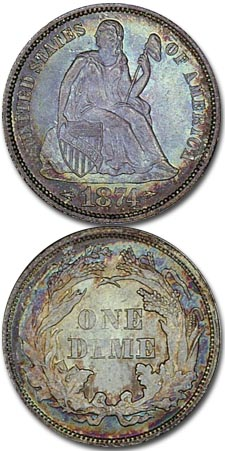 Coins of Controversy - The Seated Liberty Dime 1873-1874 (with arrows)