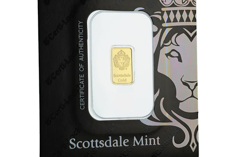 Image of 1 g Scottsdale Gold Bar