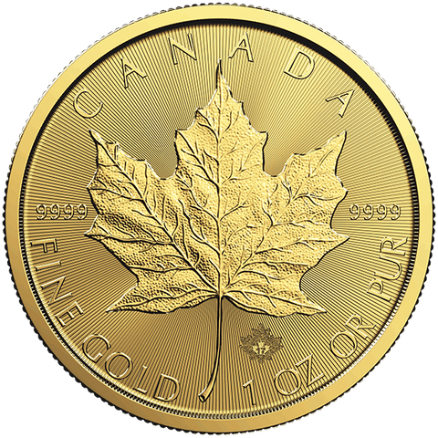 Image of 2017 1 OZ GOLD CANADIAN MAPLE LEAF