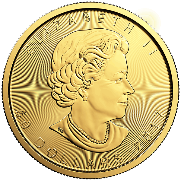 2017 1 OZ GOLD CANADIAN MAPLE LEAF