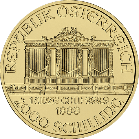 Image of 1 OZ AUSTRIAN GOLD PHILHARMONIC