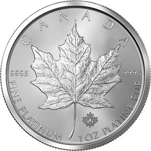 1 OZ. PLATINUM CANADIAN MAPLE LEAF