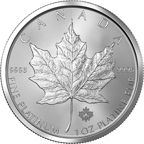 Image of 1 OZ. PLATINUM CANADIAN MAPLE LEAF
