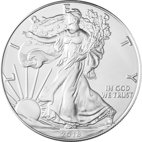 Image of 2018 1 OZ AMERICAN SILVER EAGLE