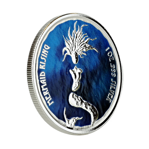 Image of 2018 1 oz Fiji Mermaid Rising Color Commemorative Proof
