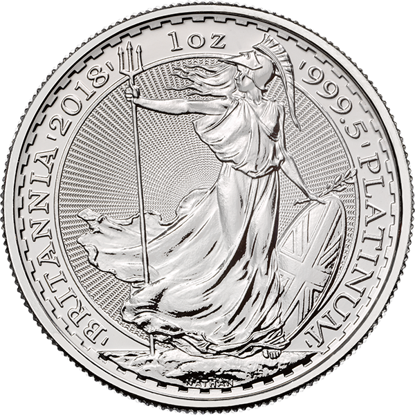 2018 1 OZ GREAT BRITAIN PLATINUM BRITANNIA