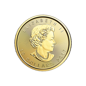 2017 1/4 OZ CANADIAN GOLD MAPLE LEAF