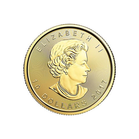 Image of 2017 1/4 OZ CANADIAN GOLD MAPLE LEAF