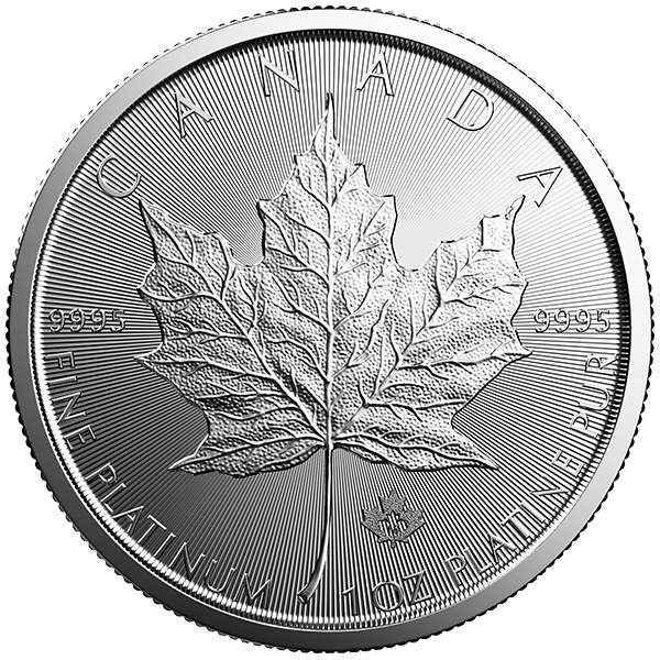 2018 1 OZ CANADIAN PLATINUM MAPLE LEAF