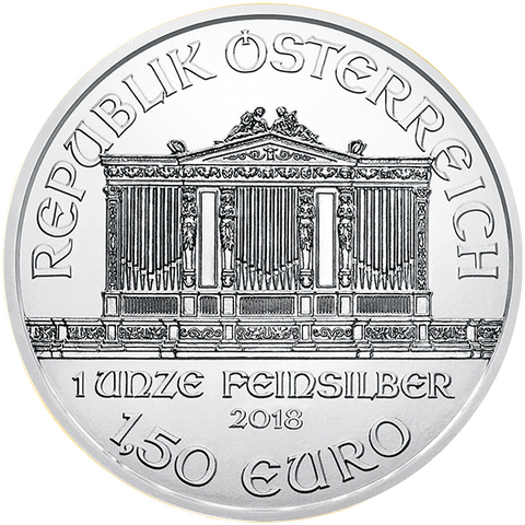 Image of 2018 1 OZ AUSTRIAN SILVER PHILHARMONIC