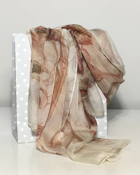 Pure Silk Scarves. Chiffon long colourful Silk Scarves. See more...