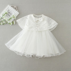 Newborn White Dress For Baptism Sleeveless Baby Girl Lace Christening Gown  Dress Toddler 1st Birthday Party cdc22e651df4