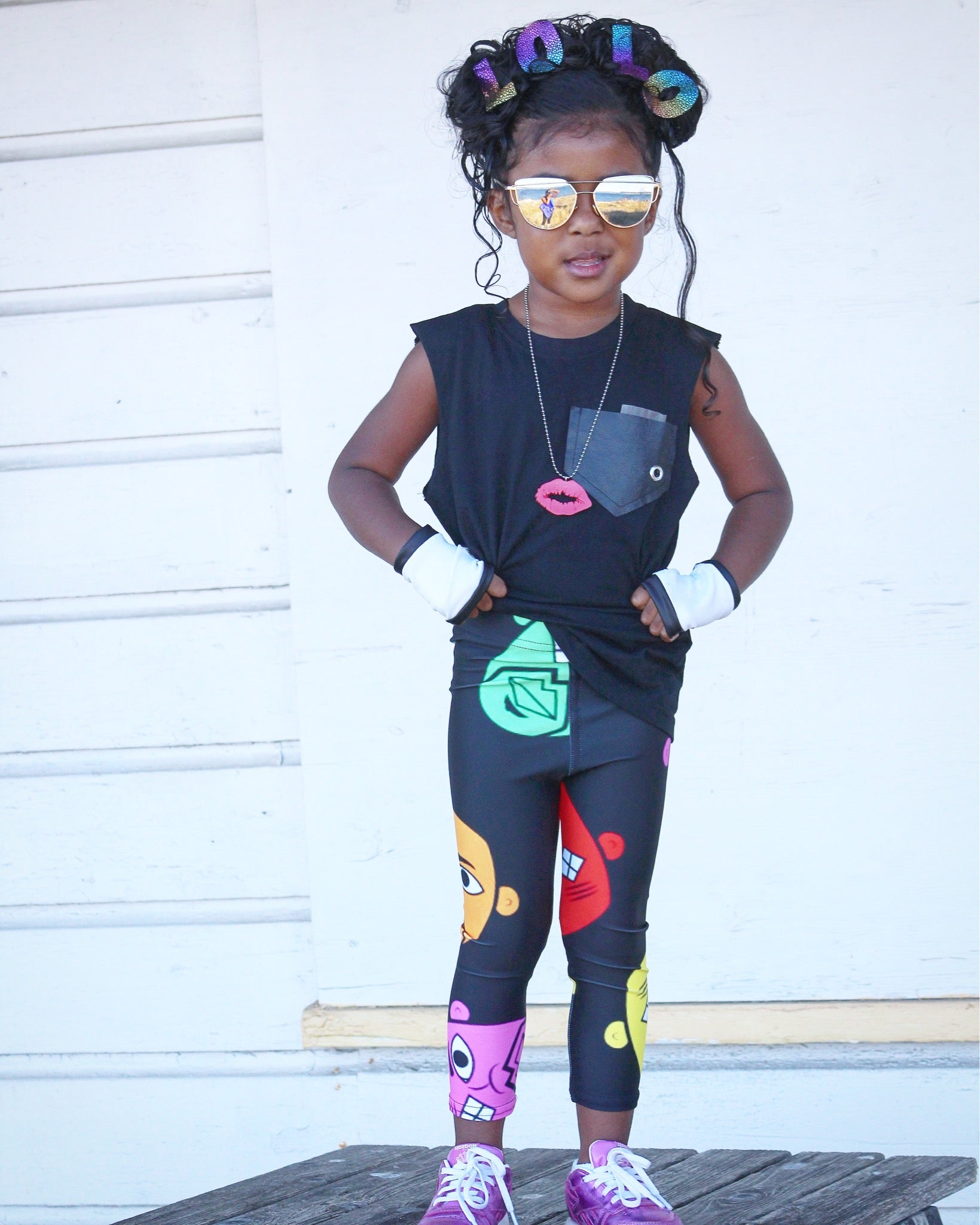 """Changing Faces"" Leggings - Childish"