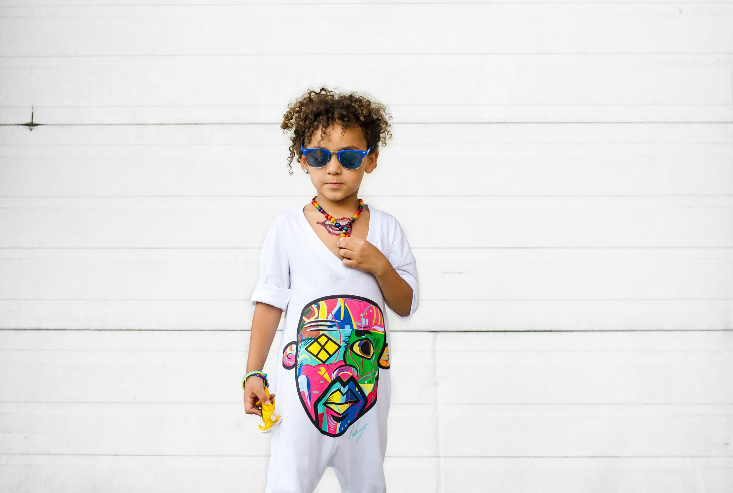 """Pikanye Color Crazy"" White Romper - Canakkalefrm"