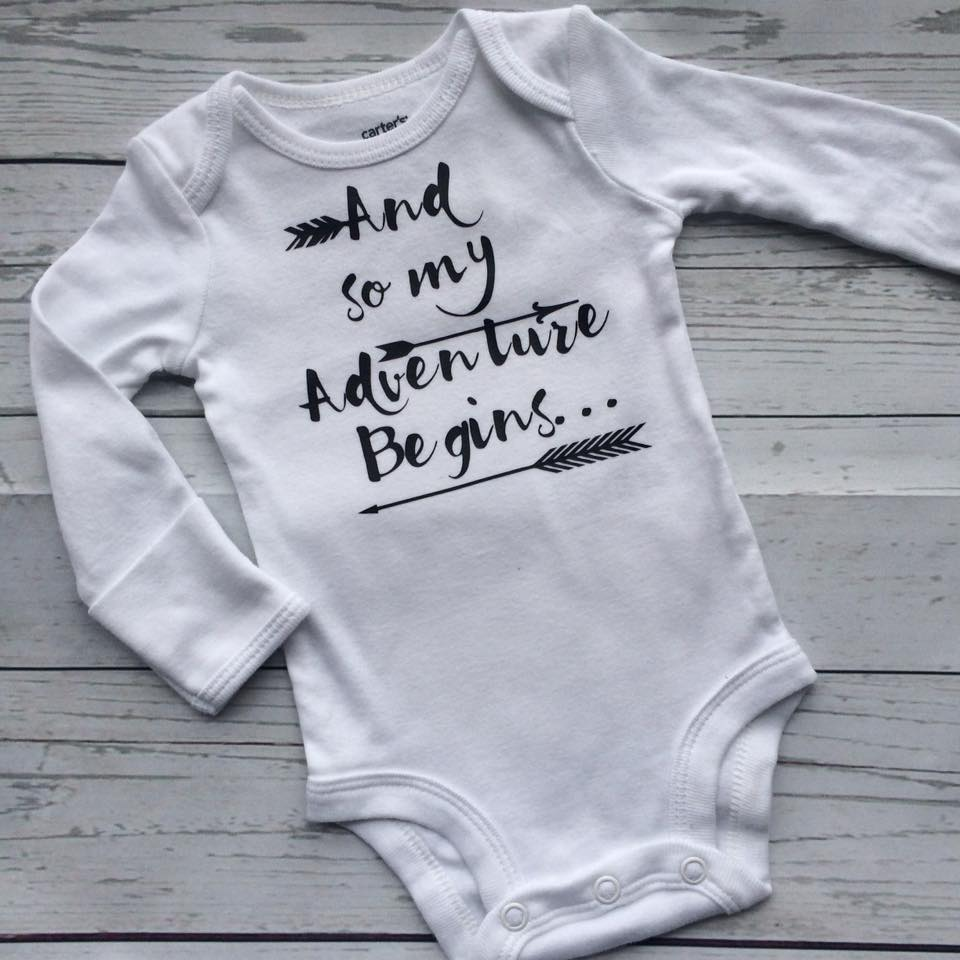 My Adventure Begins Onesie