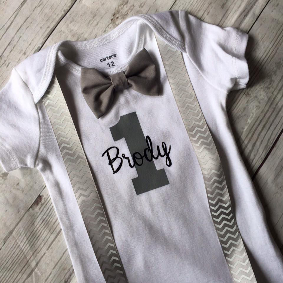 Little Man Onesie (with suspenders & Bow Tie)