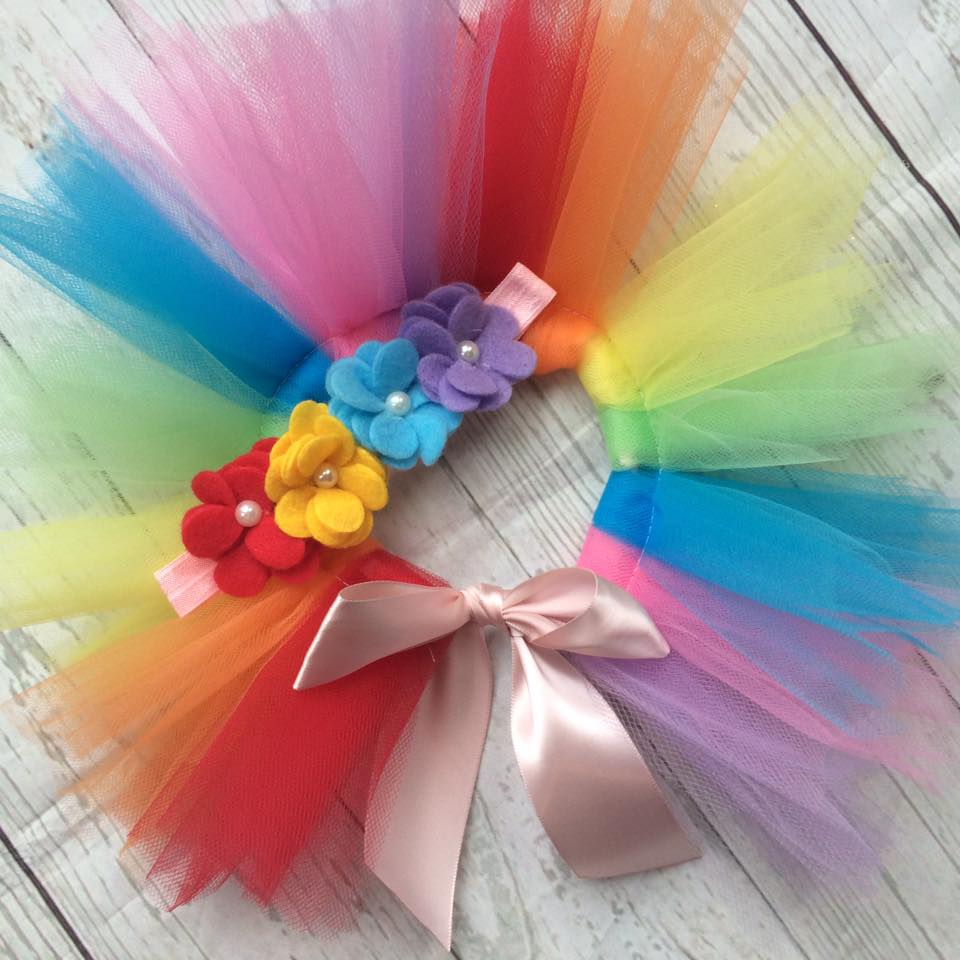 Rainbow Tutu And Headband Outfit