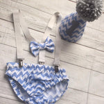 Blue Chevron Outfit
