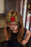 Holly Jolly floral hairpiece