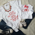 Mommy and Me Love You Tees