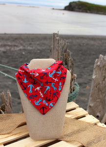 Reversible Red Anchors Bib