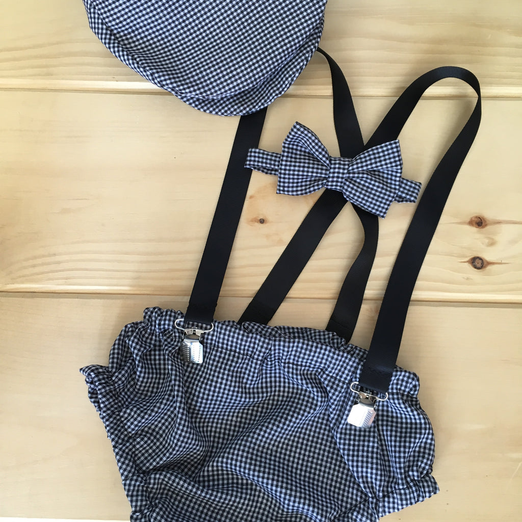 Gingham Newsboy Outfit