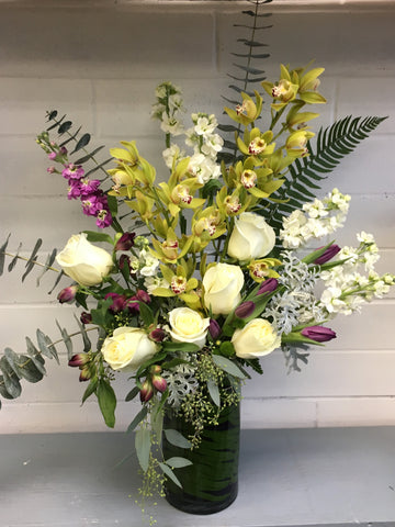 Cymbidium Orchid Vase Arrangement