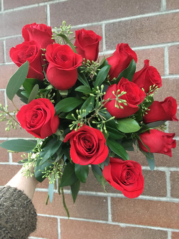 Dozen Red Roses Cut Bouquet