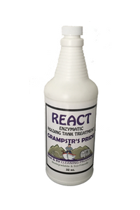 Case of 4 - REACT - Enzymatic Cleaner and Holding Tank Treatment - 128 oz