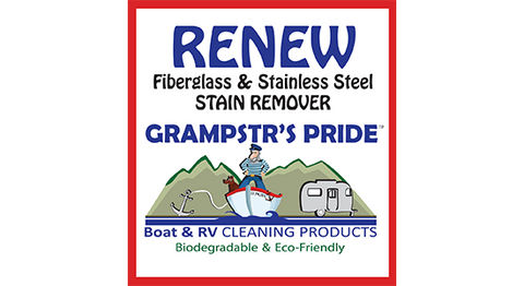 RENEW - Fiberglass & Stainless Steel Stain Remover - Case - 4 Gallons