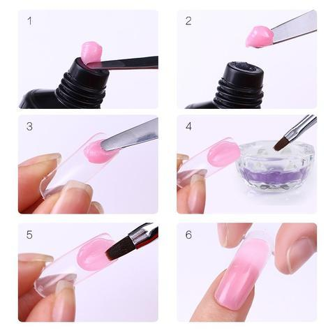 how to apply polygel nail kit