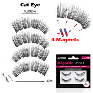 LureLashz™️ - Magnetic Reusable Eyelashes with 4 magnets