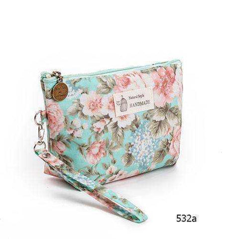 Vintage Floral Cosmetic Bag - My Skin First