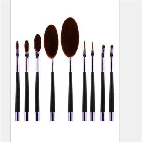 Perfect Blend Oval Makeup Brush Kit - My Skin First