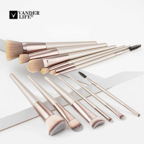 Champagne Makeup Brush Set - My Skin First