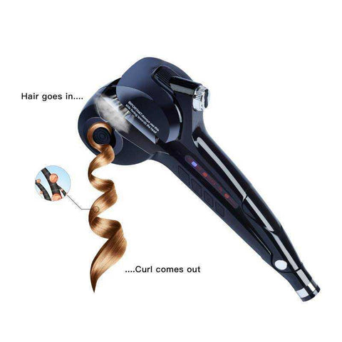 Professional Salon Styling Steam Spray Automatic Hair Curling Ceramic Iron
