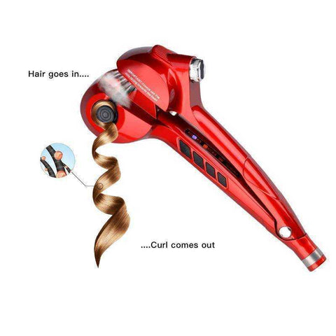 Professional Salon Styling Steam Spray Automatic Hair Curling Ceramic Iron - My Skin First