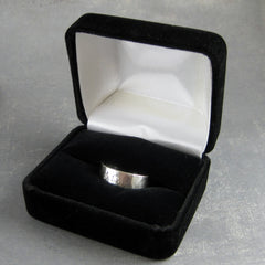Alpha Omega ring in fancy ring box