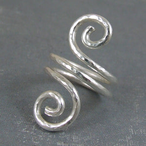 double swirl design ring