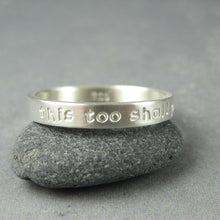 Slender silver ring personalized