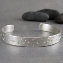 Romantic inscription bracelet