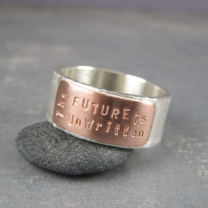 mixed metal ring made to order