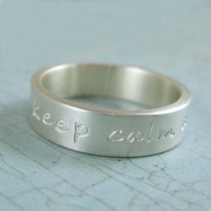 keep calm and carry on ring