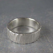 carved mens wedding band